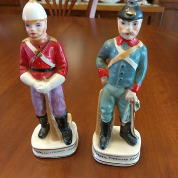 Porcelain statues 5in found at thrift store - Figurines