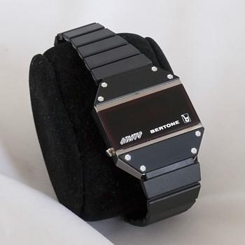 Bertone Strato's Led watch - Rubber strap version