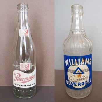 Vintage Soda Bottles: Petermann Beverages Pe Co. (Union City, NJ) and Williams Sparkling Beverages (Clifton, NJ) - Bottles