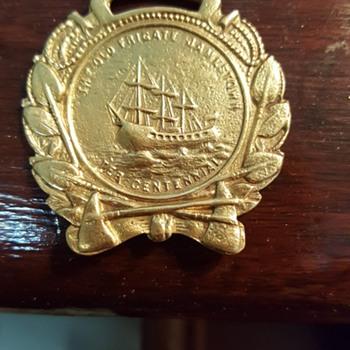 1907 World's Fair the frigate Jamestown tercentennial fob - Pocket Watches