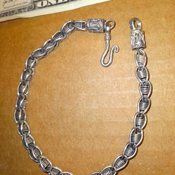 men's 'fancy link' sterling bracelet chain - Fine Jewelry