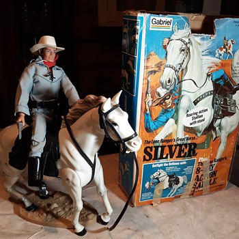 Gabriel Lone Ranger Silver Horse With 8-Way Action Saddle 1970s - Toys