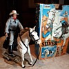 Gabriel Lone Ranger Silver Horse With 8-Way Action Saddle 1970s