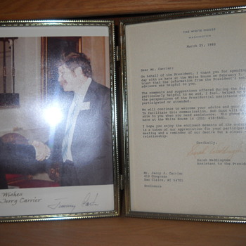 My father with Jimmy Carter - Photographs