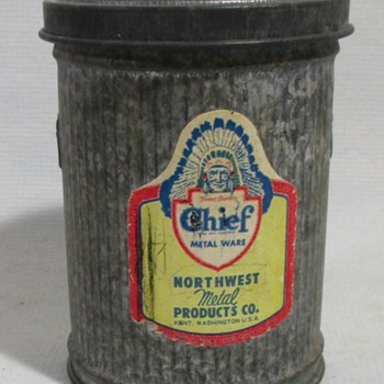 Store Display/Salesmen Sample Trash Can - Advertising