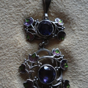 Jessie M. King Amethyst and Enamel Pendant - Fine Jewelry