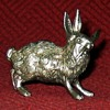 Vintage German Silver Alloy Rabbit