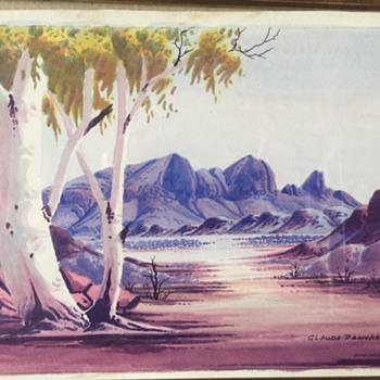 Aboriginal watercolour 1960s - Fine Art
