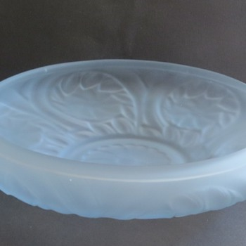 "Frosted Glass Bowl marked ""BRITISH MAKE""! Jobling Glass? - Art Glass"