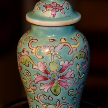 Teeny weeny Chinese Famille Rose Covered Jar - Asian