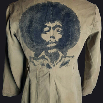 JIMI HENDRIX Australian Vietnam War Soldier's Hand Painted Jacket  - Mens Clothing