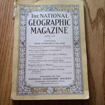 national geographic 1924 volume xlv number four