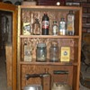 Vintage Wall Cabinet on the Floor