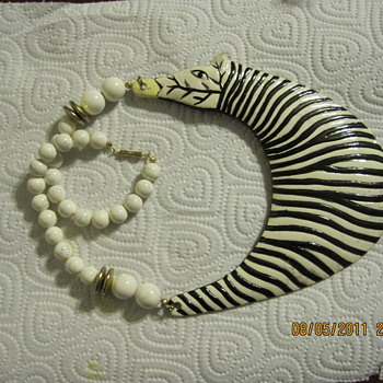 Zebra necklace - Costume Jewelry