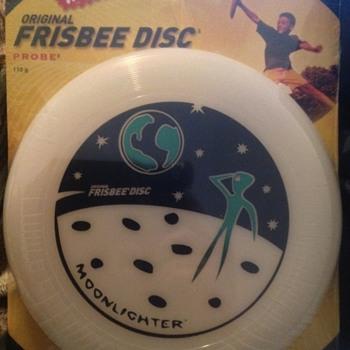 Wham-O frisbee 110 gram moonlighter model #90120.  Bar code number 032187901207