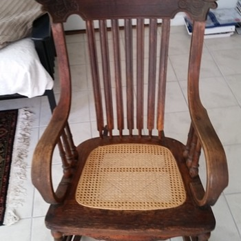 Opa's rocking chair 1930, or 1940,s out of New York, or perhaps from Westphalia, in Germany. 1936? - Furniture