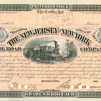 New Jersey & New York Railroad Artifacts - Railroadiana