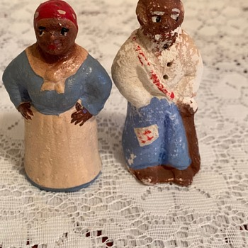 Black Americana Salt & Pepper Shakers - Advertising