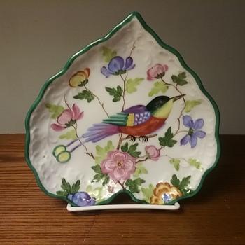 Dresden bird dish - China and Dinnerware