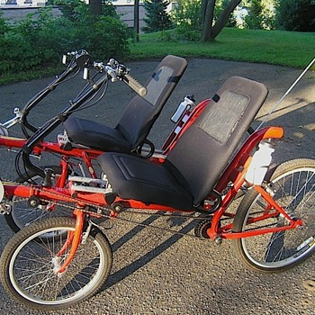 Twin RECUMBENT - 2 seat side by side - Tandem - 4 wheel - Sporting Goods