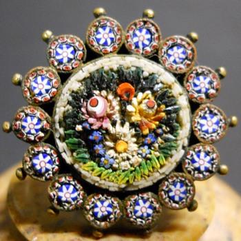 Small Micro Mosaic brooch - Fine Jewelry