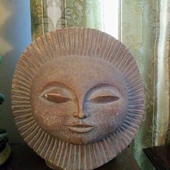 SUN FACE SCULPTURE - Fine Art