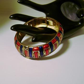 Trifari Clamper Bracelet - Costume Jewelry