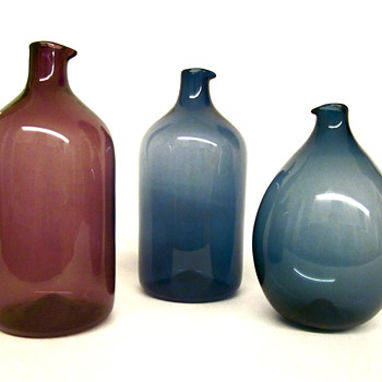 Timo Sarpaneva Bird Bottles by Iittala - Art Glass