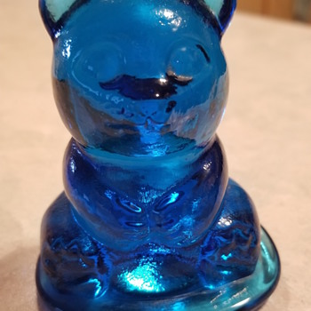 Blue Glass Bear - Art Glass