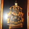 Emperor and Empress of China, stones on lacquered board, 3 Ft. X 2 Ft., large and heavy