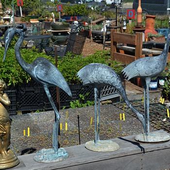 Three metal Garden Cranes - Animals