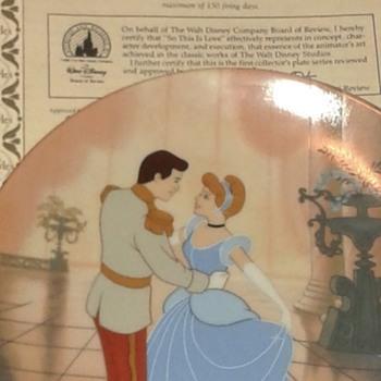 Walt Disney Cinderella China plates - China and Dinnerware
