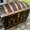 1880's Saratoga grade antique trunk