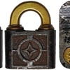 Pin Tumbler Push Key Padlock