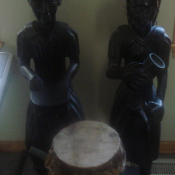 Unknown Haiti Figures and drum - 1930s