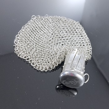 Antique Deco Sterling Silver Mesh Coin Purse Pouch  - Art Deco