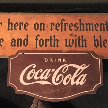 1940's Kay Displays Wood Sign - Coca-Cola