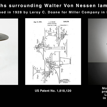 "The many faces of ""Doane"" lamp - Who really designed Walter von Nessen lamp? - Art Deco"