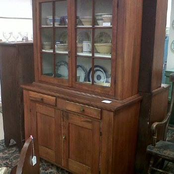 Antique step back cupboard  - Furniture