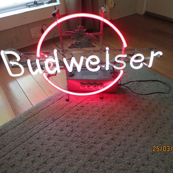 Vintage Budweiser Neon Sign - Signs
