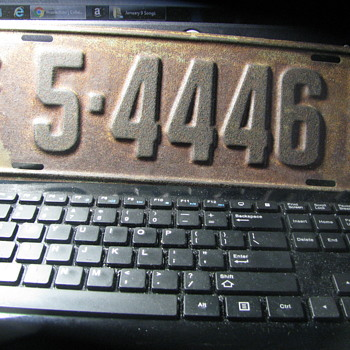 1927 licence plate from South Dakota