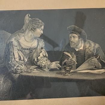 'The Lawsuit' in a Lemon-gilded Frame - Fine Art