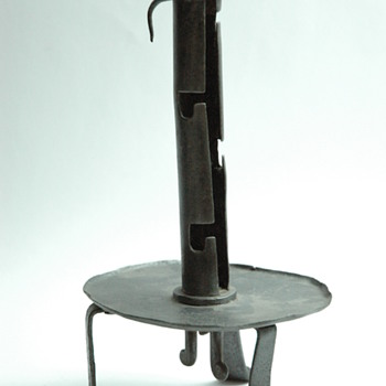 antique french andiron candle holder, circa 18th century.