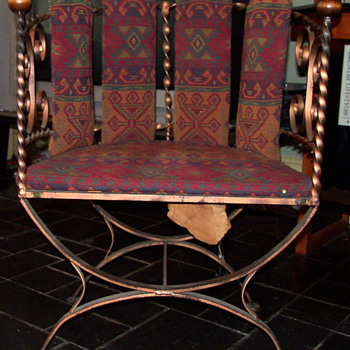 Wrought Iron Barrel Back Lounge Chairs - Furniture