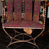 Wrought Iron Barrel Back Lounge Chairs