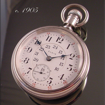 Elgin B.W. Raymond Railroad Pocket Watch