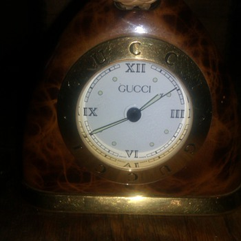 Rare GUCCI  Tortoise Shell STIRRUP DESK ALARM CLOCK - Clocks