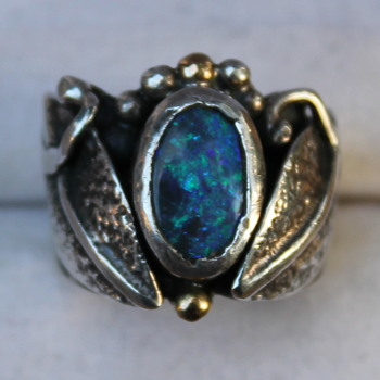Interesting opal ring