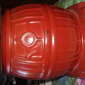 Mccoy red pot belly stove cookie jar  - Kitchen