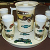 1970's Chevrolet dealer tray,glasses,and pitcher